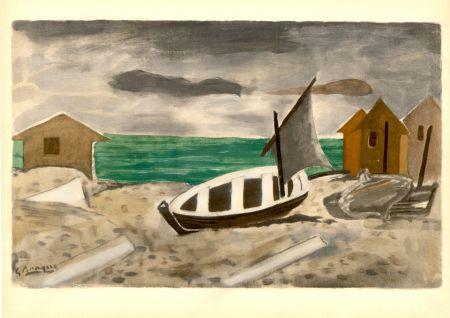 Pochoir Braque - À Varengeville (1956) de l'album : Douze Contemporains par J. Lassaigne (1959)