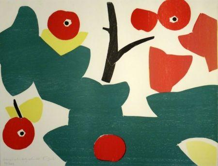 Grabado En Madera Gehr - Äpfel