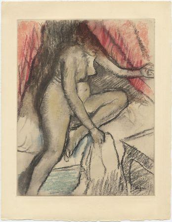 Aguafuerte Y Aguatinta Degas - Étude de nu (vers 1880)