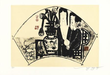 Litografía Tongzhengang - éventail