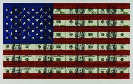Serigrafía Gagnon - $100 U.S. Flag
