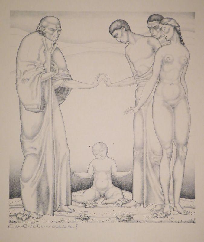 Litografía Schwalbach - 10 Original Steinzeichnungen