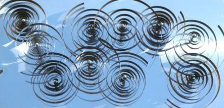 Grabado En Madera Asis - 10 spirales mobiles sur acier