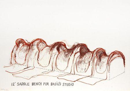 Litografía Dine - 12' Saddle Bench for Basil's Studio
