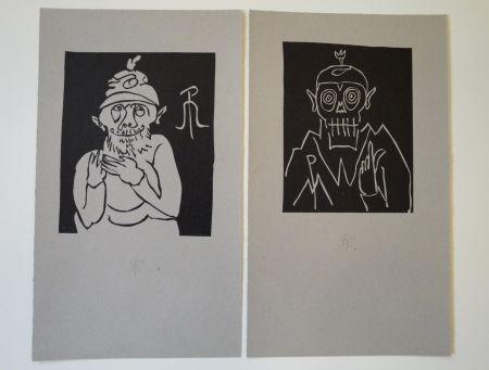 Litografía Müller - 13 x Moa