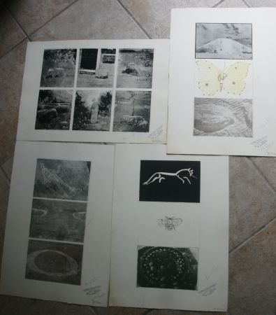 Grabado Tilson - 15 prints on four sheets, 1 hand coloured