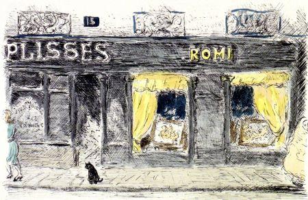 Litografía Cascella - 15 Rue de Seine-Paris