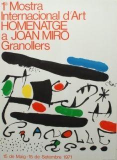 Litografía Miró - 1 a Internacional d´Art - 1971