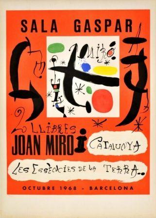 Cartel Miró - 2 llibres: Joan Miró i Catalunya - Les essències de la terra