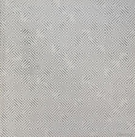 Serigrafía Morellet - 2 trames de chevrons-positif