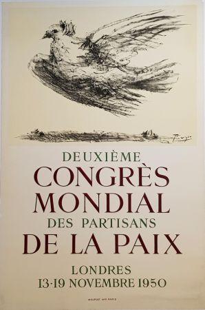 Litografía Picasso - 2e Congres Mondial des Partisans de la Paix