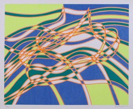 Serigrafía Hayter - #3 from the Aquarius Suite