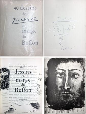 Libro Ilustrado Picasso - 40 DESSINS DE PICASSO EN MARGE DU BUFFON. Exemplaire signé et daté par Picasso
