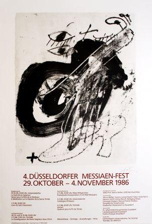 Litografía Tàpies - 4. Düsseldorfer Messaien-Fest