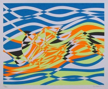 Serigrafía Hayter - #4 from the Aquarius Suite