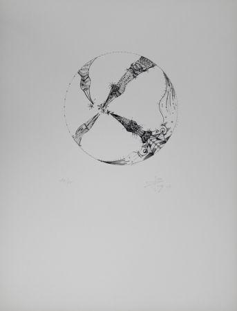 Litografía Ponc - 4 pájaros (4 Birds)