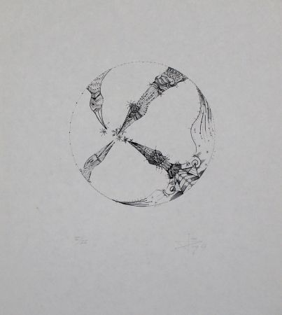 Litografía Ponç - 4 pájaros (4 Birds)