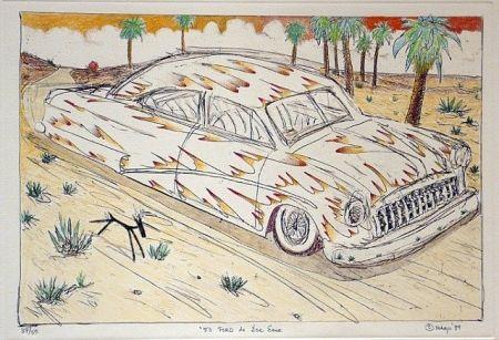 Grabado Lujan - 50 Ford de Ese Eme, Hand Painted