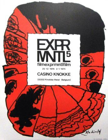 Litografía Alechinsky - '' 5e Festival du Film Expérimental de Knokke ''