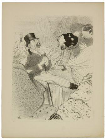 Litografía Hermann-Paul - 7. Les Fiancés