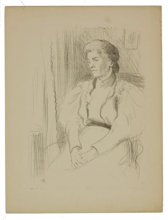 Litografía Hermann-Paul - 9. Jeune femme