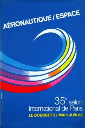 Litografía Auriac - Aéronautique Espace  Salon du  Bourget