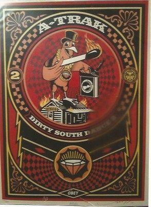 Serigrafía Fairey - A-Trak Dirty South Dance 2 (A-Trak)