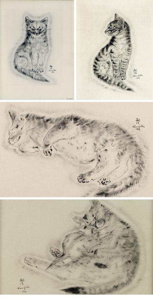 Libro Ilustrado Foujita - A BOOK OF CATS. being Twenty Drawings by Foujita. New York 1930