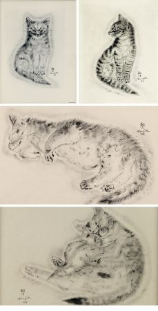 Libro Ilustrado Foujita - A BOOK OF CATS. being Twenty Drawings by Foujita. New York 1930