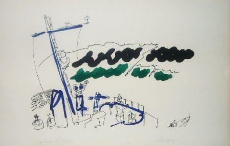 Litografía Lapicque - A bord d'un destroyer
