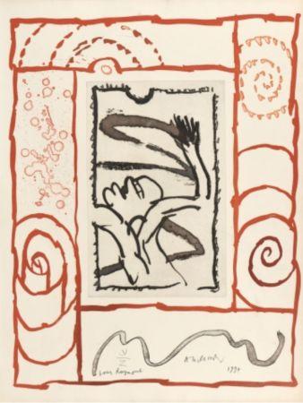 Litografía Alechinsky - A bras de corps