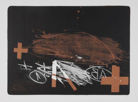 Litografía Tapies - A effacé