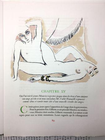 Libro Ilustrado Van Dongen - A. France : LA RÉVOLTE DES ANGES. 58 lithographies en couleurs (1951)