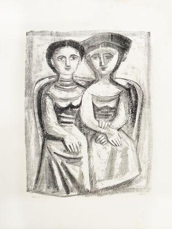 Litografía Campigli - A Giuditta