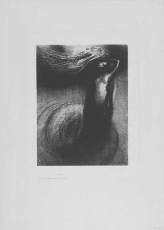 Litografía Redon - A Gustave Flaubert