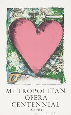 Litografía Dine - A heart at the Opera