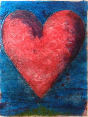 Grabado Dine - A Heart on The Rue Grenelle