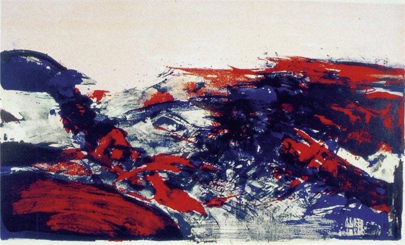 Litografía Zao - A la Gloire de l'Image 274