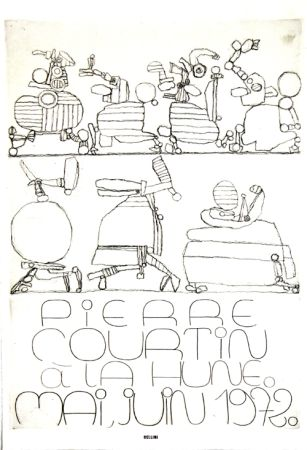 Litografía Courtin - A la Hune