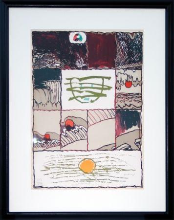 Litografía Alechinsky - A l'imprimerie (1967)