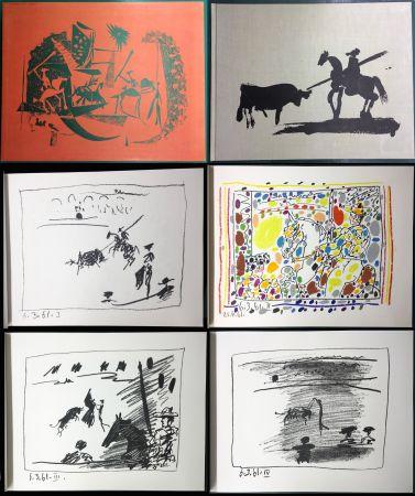 Libro Ilustrado Picasso - A LOS TOROS avec Picasso. 4 lithographies originales (1961)
