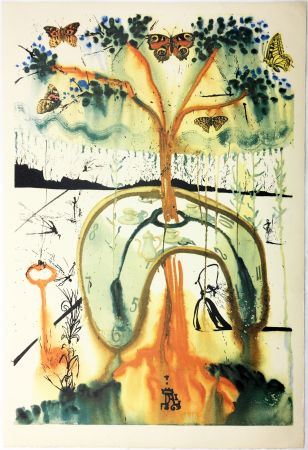 Heliograbado Dali - A MAD TEA PARTY (From Alice in Wonderland. New-Yok 1969).
