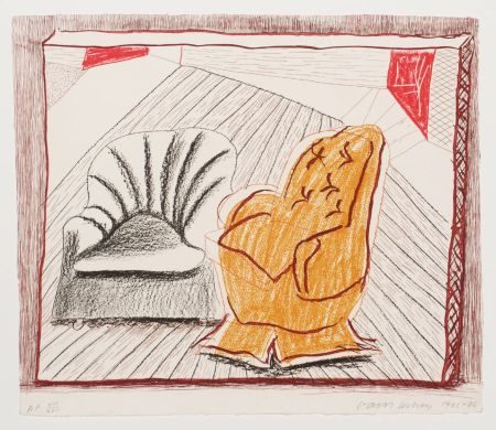 Litografía Hockney - A Picture Of Two Chairs