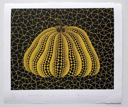 Serigrafía Kusama - A Pumpkin YB-D