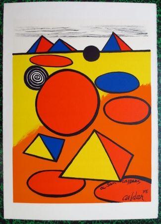 Litografía Calder - A San Lazzaro