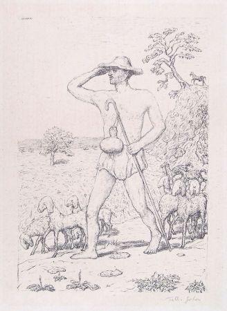 Litografía Garbari - A SHEPHERD