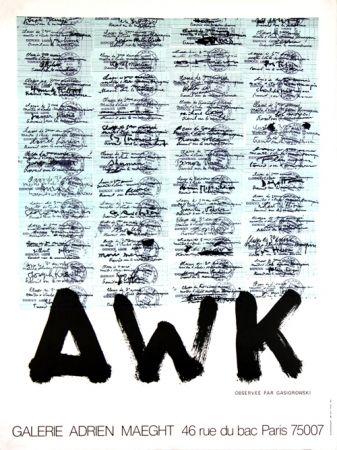 Litografía Gasiorowski - A W K   Galerie Maeght