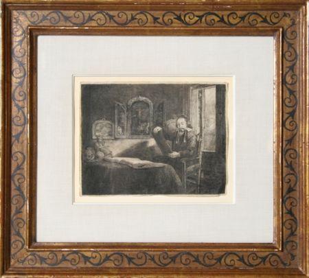 Grabado Rembrandt - Abraham Francen, apothecary
