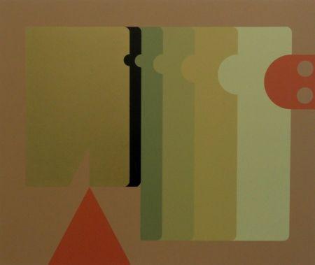 Serigrafía Felguerez - Absract Composition with Triangle