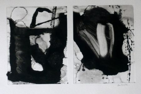 Aguafuerte Y Aguatinta Bird - Abstract 3